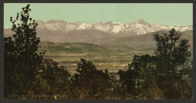 CO-120 Mount Sneffles Range c.1898