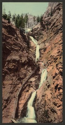 CO-132 Seven Falls, Cheyenne Canyon c.1898
