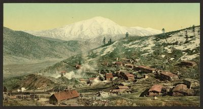 CO-144 Mt. Sopris from Spring Gulch Mine c.1898