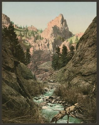 CO-153 S. Cheyenne Canyon c.1901
