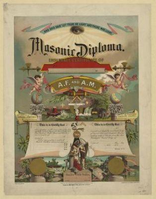 RA-119 Masonic diploma