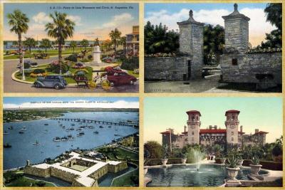 SA-129 Vintage postcard collage