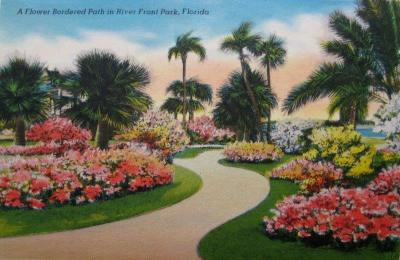 FL-115 Flower Border Path