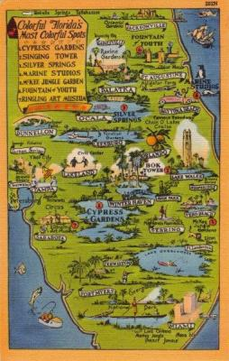FL-213 Map of Florida's fun spots