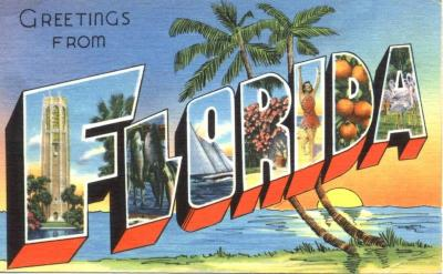 FL-227 Greetings from Florida