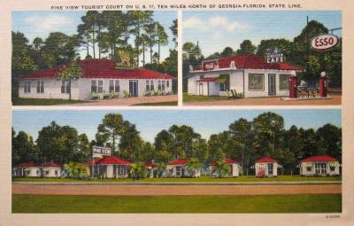 GA-101 Pine View Tourist Court on U.S. 17