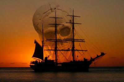 PIR-133 Ship & skull