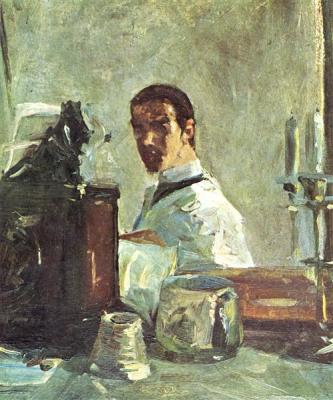 Self Portrait in front of mirror