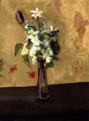 Bouquet of Flowers in a Crystal Vase