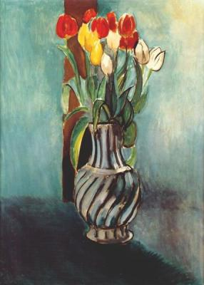 Me, Myself & Stendhal Vase of Tulips