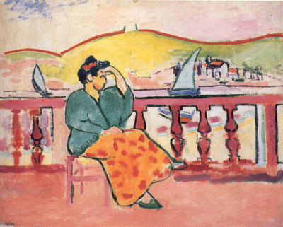 Woman on a Terrace