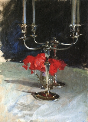 Candelabra with Roses