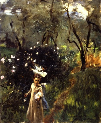Children Picking Flowers