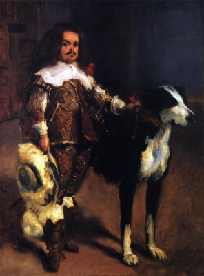 Dwarf with a Dog