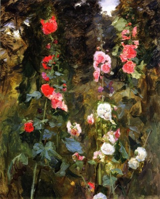 Hollyhocks, Isle of Shoals