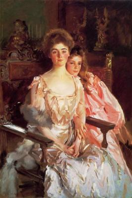 Mrs. Fiske Warren and Her Daughter Rachel