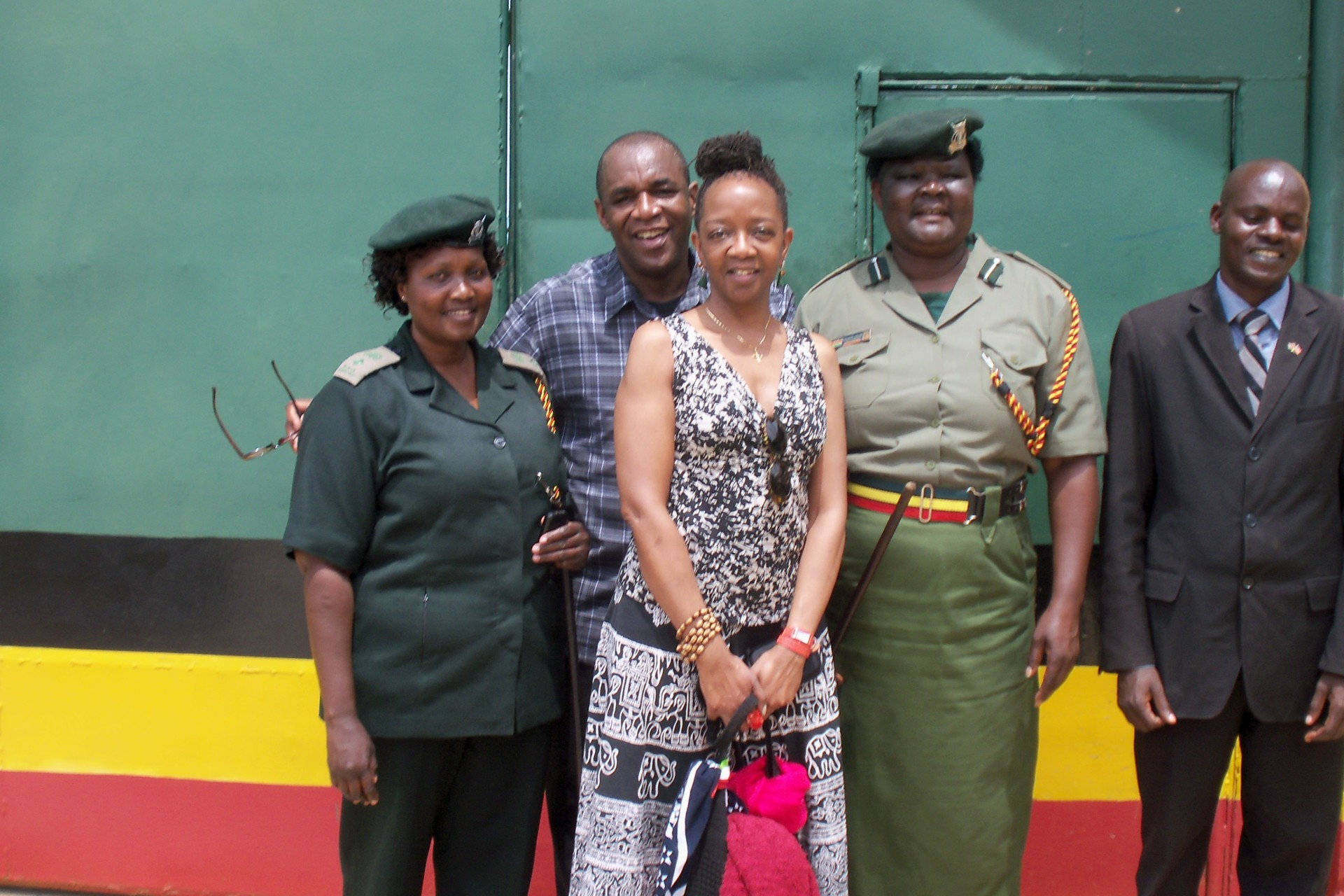 Langata Prison- Ms. Jones with Noland Henson & Prison Officials