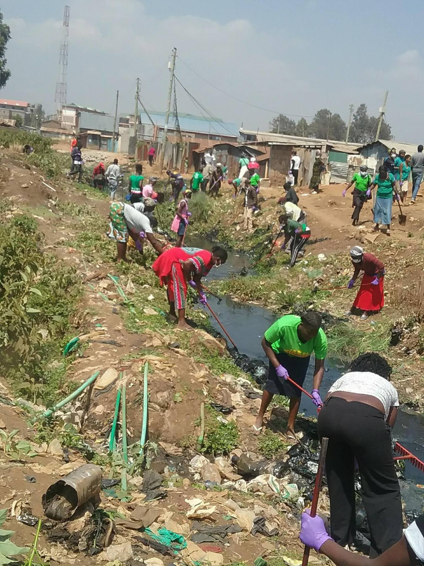 Gatina Slum Clean-Up