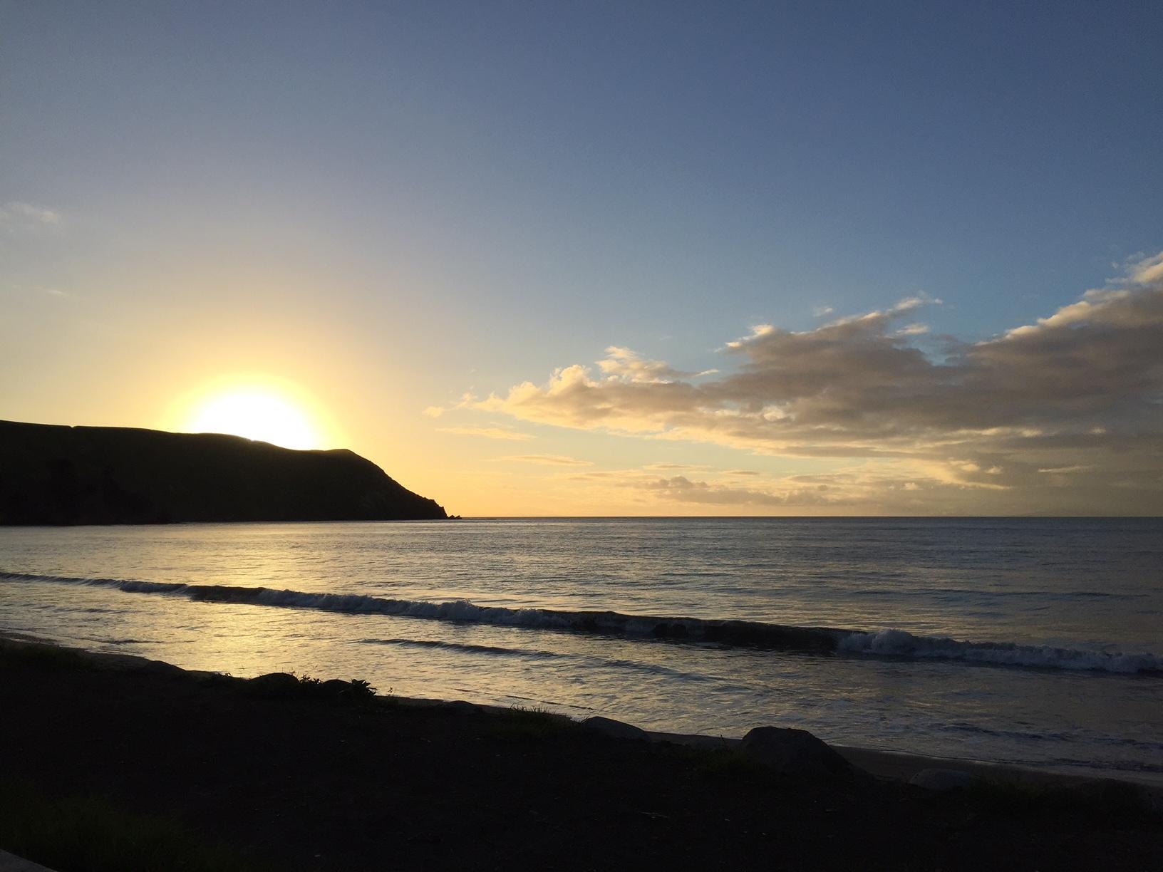 The Beautiful sunset at Port Jackson