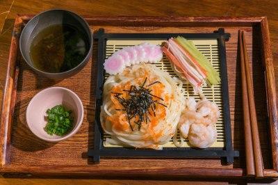 日式海鮮冷稻庭烏冬(鰹魚汁)