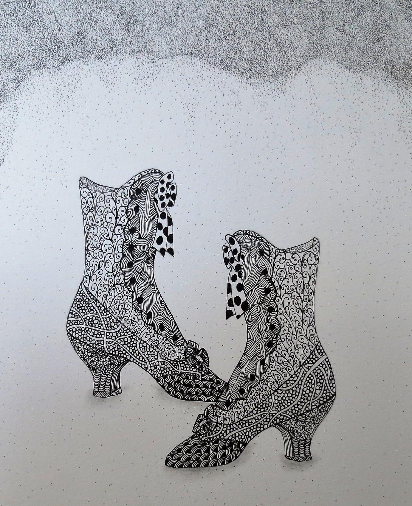 Zen Line Drawing-Elaine Riley