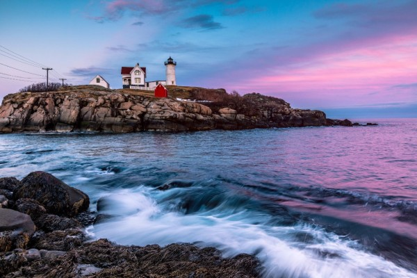 Nubble Lighthouse at Sunset