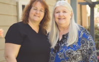 Lucie Bryant Student Midwife & Lynn Deer Midwife
