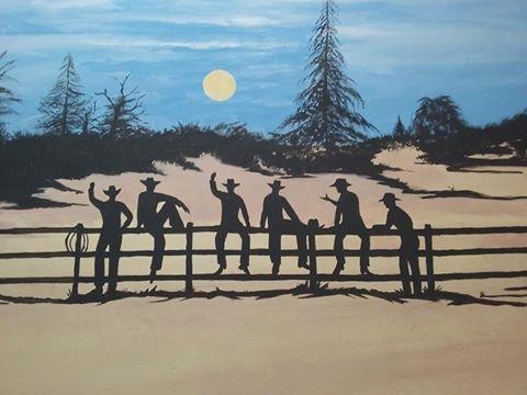 Cowboy Mural