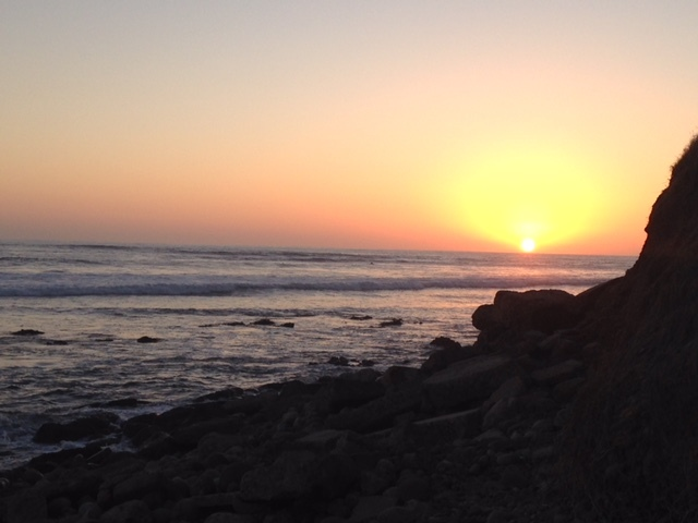 Sunset at PB Point in San Diego