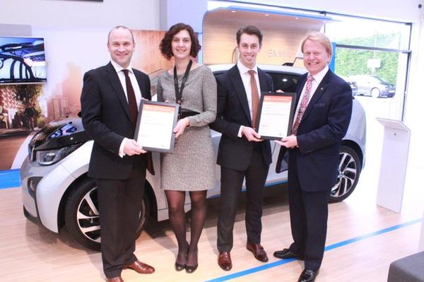 Jay & Jodie with Darren Edwards, CEO of Sytner Group and Steve Nash, CEO of the IMI