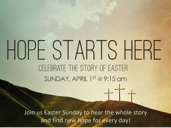 Easter Sunday Worship 9:15 am