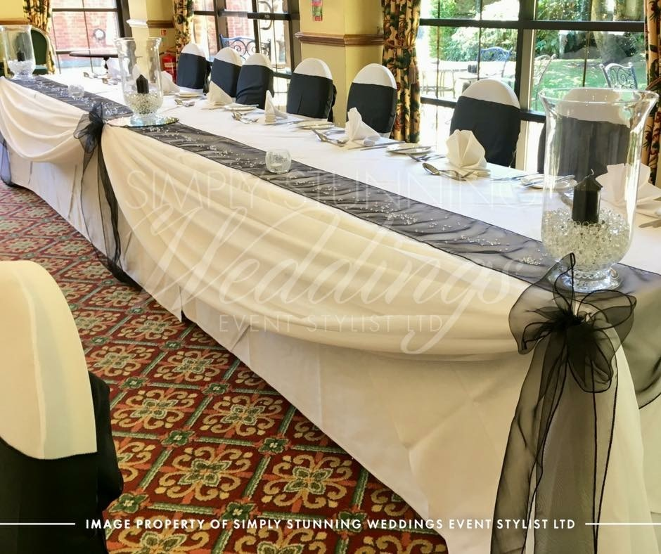 Top Table. Swagging. Simply Stunning Weddings - Event Sylist Ltd. Venue Dresser. Solihull