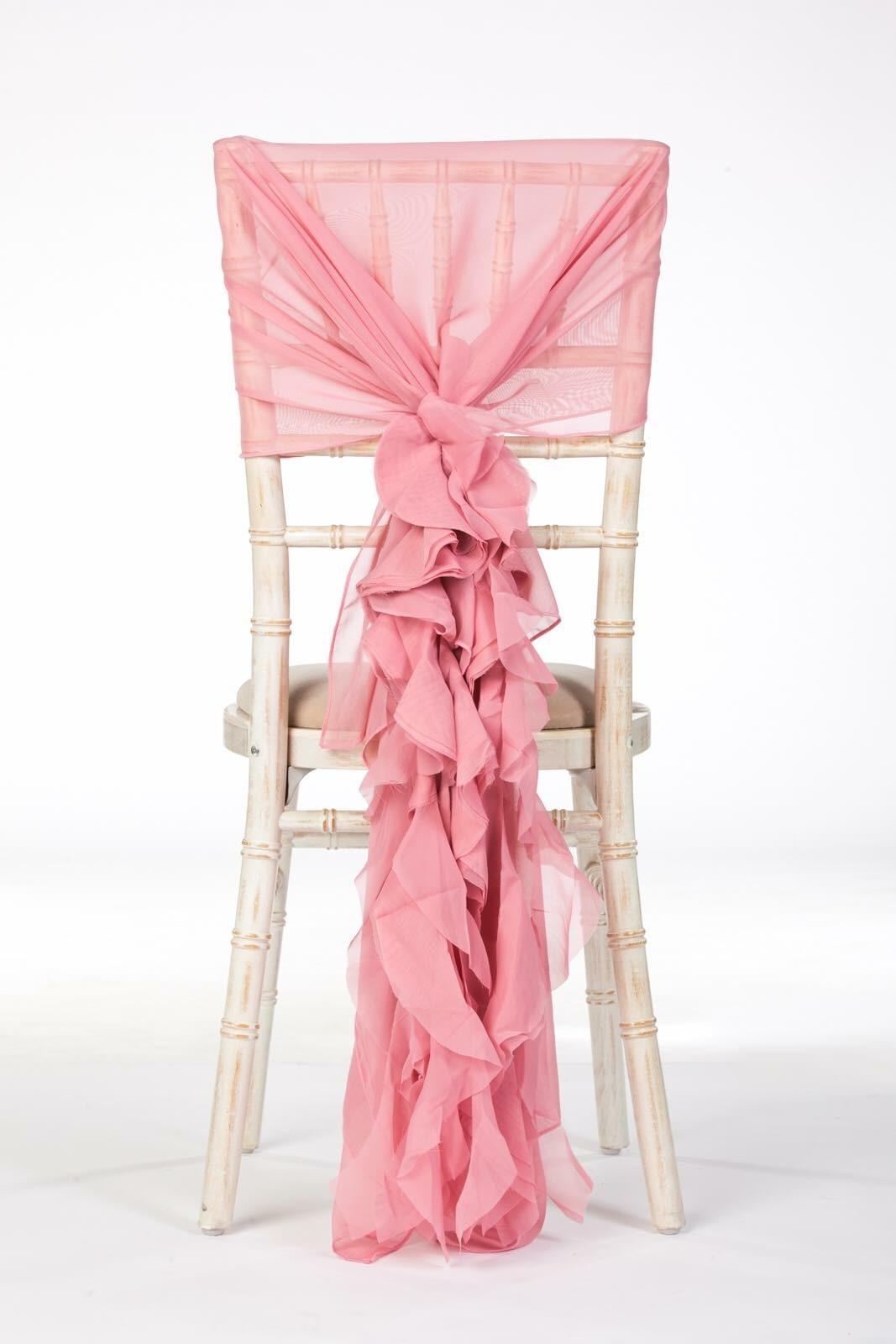 Dusky Pink Ruffle Hood