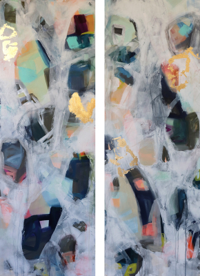 Rock Wall Diptych