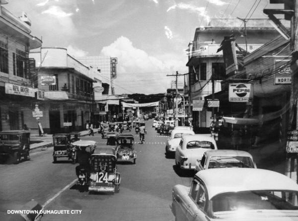 Downtown Dumaguete then