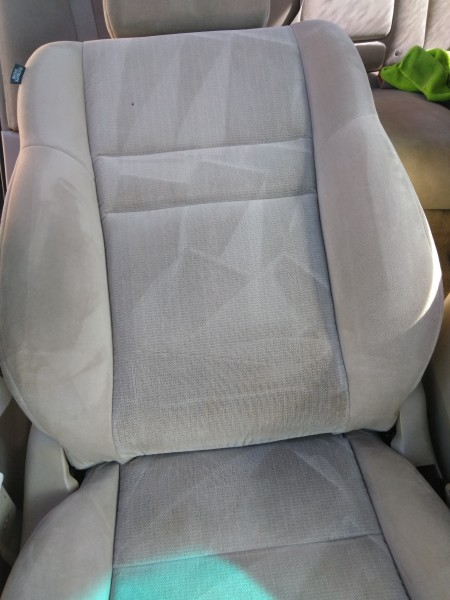 Honda Accord Seat Shampoo Stain AFTER