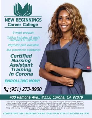 Certified Nursing Assistant Training in Corona