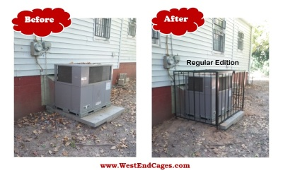 AC Cages, Air Conditioner Security, Steel Cage, West End Cages