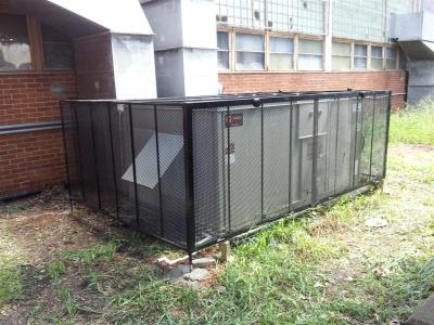 #ACCages, West End Cages, Solid Steel Air Conditioner Cage, Security Cage