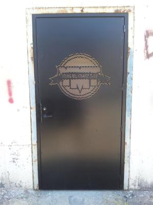 CNC Plasma Cut, Steel Door, Security, West End Cages, #ACCages