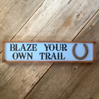 Happy Trails, Wood Sign, Horseshoe Decor, Western Style Home Decor, Horse, Western, Handmade Wall Art, Barn and Stable, Gift for Horse Lovers