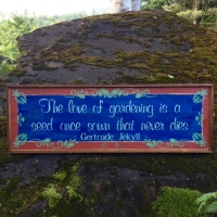 Quotes on Gardening, Garden Sayings, Handmade Signs, Country Living Home Decor, Garden Signs and Decor, Handmade Wood Signs, Gertrude Jekyll Quotes on Gardening, Image, Crow Bar D'signs