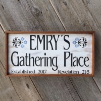 Handcrafted Custom Wood Signs, Personalized Family Name Signs, Custom Established Signs, Outdoor Signs for the Home, French Country Style Decor, Outdoor Living Space Decor Ideas, Crow Bar D'signs