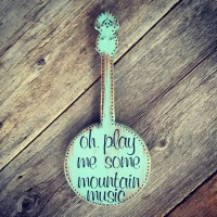 Banjo, Country Music, Song Lyrics, Wood Wall Art, Bluegrass Style, Wall Decor, Decorative Wall Art, Country Cottage Decor, Country Living Home Decor, Mountain Living Decor, Handmade Wall Art, Rustic Living