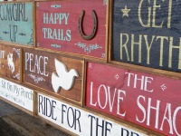 Wooden Signs, Handmade Signs, Wood Wall Decor, Rustic Wood Sign, Country Style Signs, Peace Sign, The Love Shack, Happy Trails, Western Signs, Outdoor Signs
