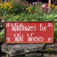 Wildflowers Sign, Garden Signs and Decor, Rustic Style Garden Decor, Handmade Wood Signs, Outdoor Signs, Outdoor Living Space Decor, Boho Style Decor