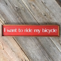 Bike Art, Bicyclist Sign, Rustic Wood Signs, Wall Decor, Bicyclist Race Song, Lyrics