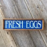 Fresh Eggs Sign, Chicken Coop Sign, Wooden Sign, Rustic Style Home Decor, Farmhouse Signs