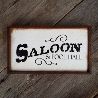 Saloon, Pool Hall, Wood Sign, Handmade Signs, Western Style Signs, Bar Signs, Home Bar Decor Ideas, Housewarming Gift Ideas, Rustic Style Wood Signs for the Home