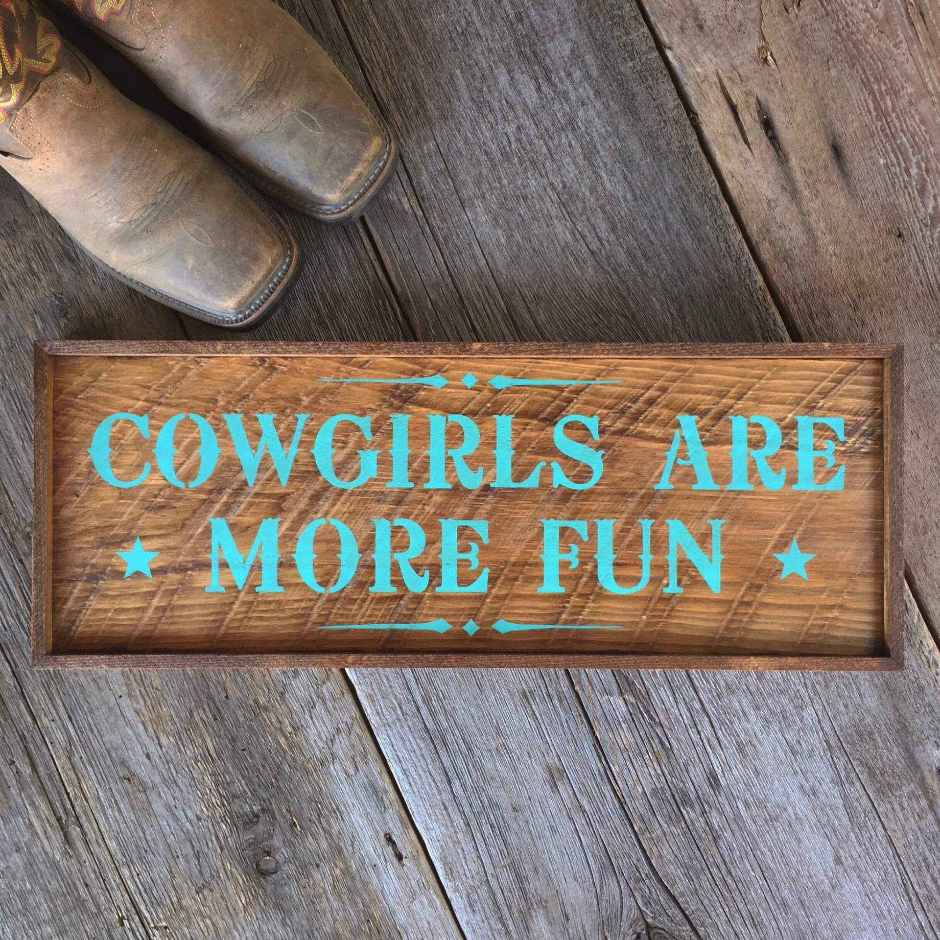 Cowgirl Sayings, Cowgirl Signs, Cowgirl Lifestyle, Western Style Wood Signs, Handmade Signs, Rustic Wood Signs, Cowgirl Decor Ideas, Gift ideas for Her, Hand Painted Wood Signs, Western Style Font, Turquoise, Wood Wall Decor
